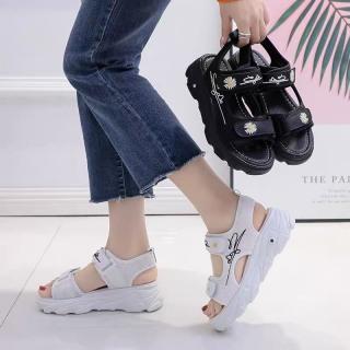 (Video 2 màu) Sandal nữ,sandal hoa cúc 2 quai chữ kí kiểu dáng trẻ trung 2