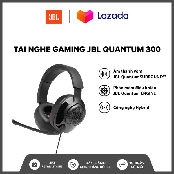 Bảng giá [TẶNG ÁO THUN VÀ NÓN QUANTUM] Tai nghe Gaming JBL Quantum 300 l Công nghệ JBL QuantumSOUND Signature l Phần mềm điều khiển JBL QuantumENGINE PC l Driver 50mm l HÀNG CHÍNH HÃNG Phong Vũ