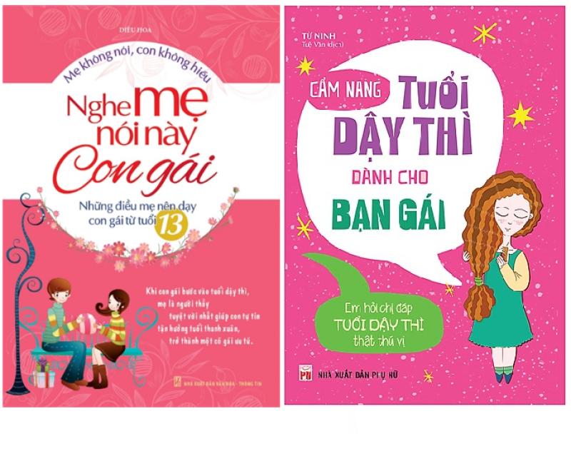 Sách Combo Cẩm Nang Tuổi Dậy Thì Dành Cho Bạn Gái+Nghe Mẹ Nói Này Con Gái -Mhbooks tặng kèm truyện