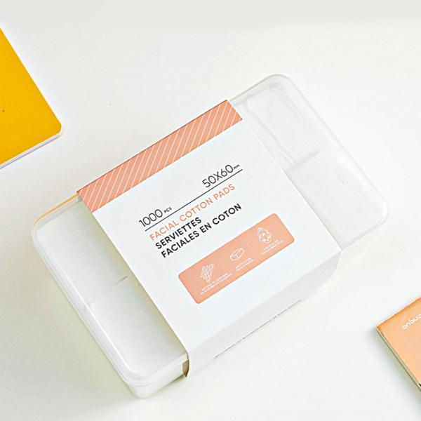 Bộ bông tẩy trang từ bông cao cấp 1000 miếng cotton pad Miniso (Trắng) giá rẻ