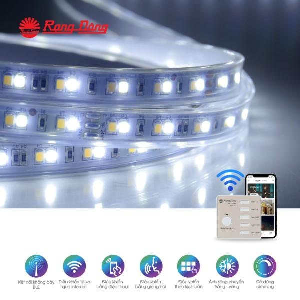 Đèn led dây đổi màu CCT Bluetooth Chính hãng Rạng Đông Cho dải ánh sáng đẹp Tiết kiệm năng lương Đa màu sắc LD01.RF.BLE 1000/7W