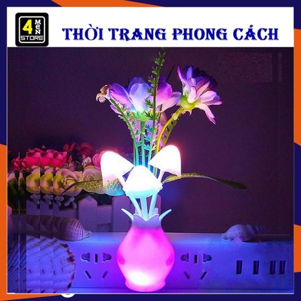 ⚡ Đèn Ngủ Bình ( Chậu ) Hoa Cảm Biến Tự Sáng Khi Về Đêm - Siêu Tiết Kiệm Điện, Bóng Đèn Led Tuổi Thọ Cao,Siêu Bền ⚡