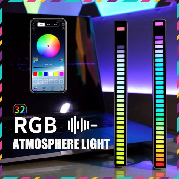 Bảng giá Thanh đèn Led nháy theo nhạc RGB đa sắc bản cao cấp 2021 - mẫu đèn led cảm ứng âm thanh dùng pin sạc, chất liệu Aluminum cao cấp - có APP điều khiển chuyên nghiệp