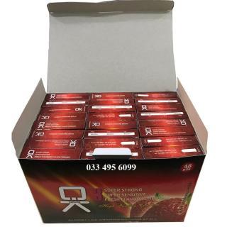 [HCM]Bộ 1 hộp lớn bao cao su OKHQ hương dâu 144 chiếc - An toàn tiết kiệm thumbnail