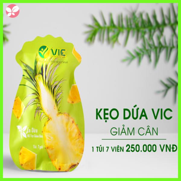 Kẹo dứa giảm cân VIC Organic - Giảm cân dứa - Mẫu mới 2021 cao cấp