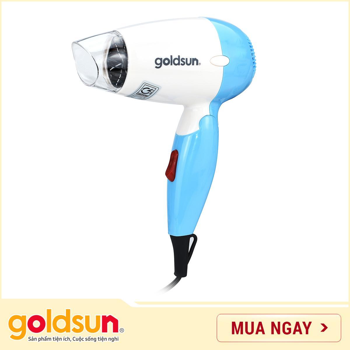 Máy sấy tóc Goldsun 650W HD-GXD850 (xanh) cao cấp