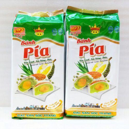 Combo 2 Bịch Bánh Pía Đậu Xanh Dứa Sầu Riêng Trứng 2 Sao 400g ( 1 Bịch/ 4 Cái ) - TÂN HUÊ VIÊN