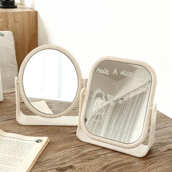 Gương trang điểm để bàn hai mặt xoay 360 độ dùng trong gia đình; Gương trang điểm để bàn dễ thương phù hợp cho sinh viên ký túc xá
