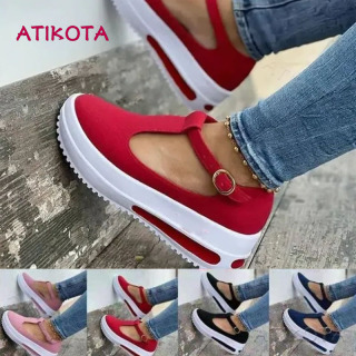 Atikota Nữ Thời Trang Nền Tảng T Thiết Kế Hình Giày Xăng Đan Vòng Bít Mũi Nêm Xăng Đan Cho nữ thumbnail