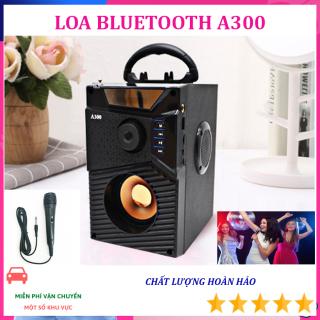 Loa Karaoke A300 xách tay siu BASS sony cũng không hay bằng - KÈM MIC CÓ DÂY - Bộ Xử Lý Âm Thanh Hiện Đại, Âm Bass Trầm Ấm, Công Nghệ Bluetooth 4.1 Cao Cấp - Bảo hành Toàn quốc thumbnail