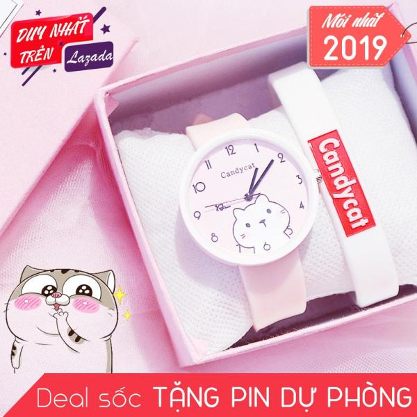 Nơi bán Đồng hồ hình Mèo mập mạp dây Silicone bền bỉ Candycat C17