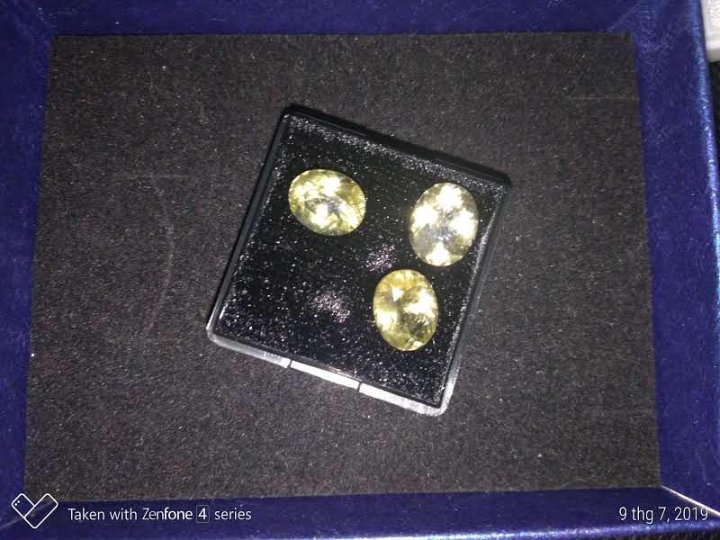 Citrin - Thạch Anh Vàng tự nhiên 100% làm nhẫn, mặt dây