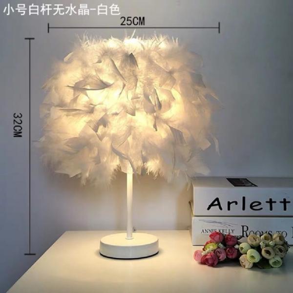 Đèn trang trí phòng ngủ , đèn trang trí phòng khách - Đèn lông vũ để bàn phấn phòng khách / phòng ngủ
