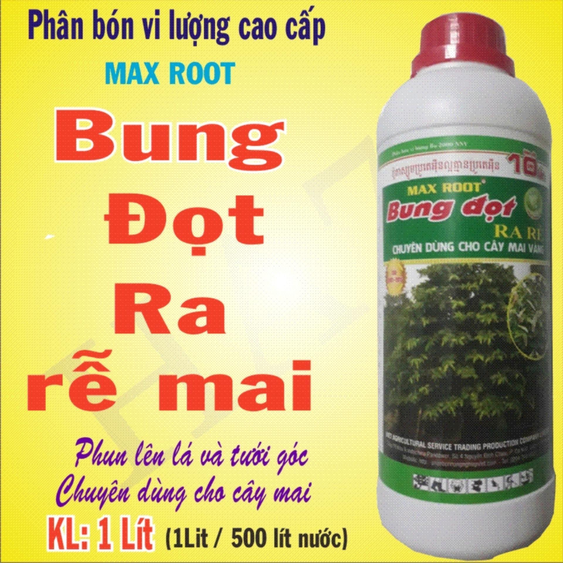 Phân bón vi lượng cao cấp Bung đọt ra rễ mai, chuyên dùng cho mai vàng - KL; 1L