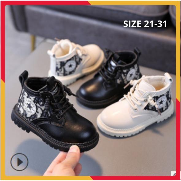 Boot Bé Trai Cổ Cao Da Mềm Cao Cấp Size 21-31 giá rẻ