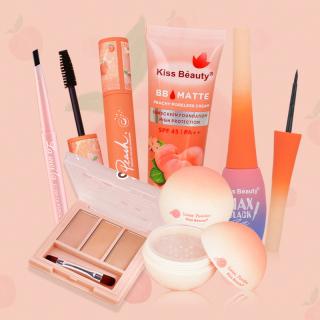 Kiss Belle Shop Bộ trang điểm mắt cá nhân KISS BEAUTY-6 món (Kem BB + Kem che khuyết điểm 3 màu + Phấn Phủ trang điểm bột+Chì kẻ mày + Kẻ mắt + Mascara) thumbnail