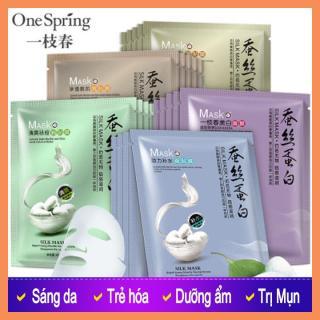 Mặt nạ tơ tằm chiết xuất tơ tằm siêu dưỡng chất dưỡng ẩm cho da, giúp da trắng sáng, mềm mịn, dịu nhẹ. thumbnail