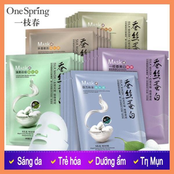 Mặt nạ tơ tằm chiết xuất tơ tằm siêu dưỡng chất dưỡng ẩm cho da, giúp da trắng sáng, mềm mịn, dịu nhẹ.