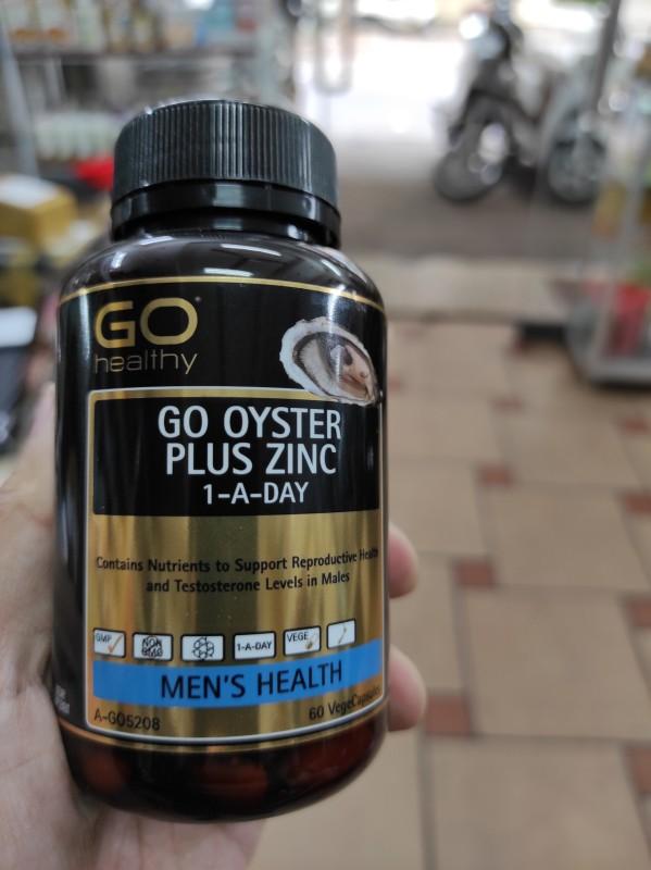 Tinh Chất Hàu Biển Go Healthy Go Oyster Plus Zinc 60 Viên Của New Zealand Date Mới
