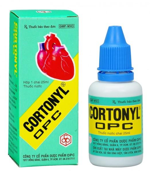 Nước trợ tim Cortonyl OPC  25ml