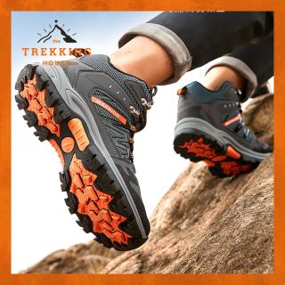 Giày leo núi trekking nam nữ chống thấm Warrior Xám - Cam, giày phượt oudoor dã ngoại thumbnail