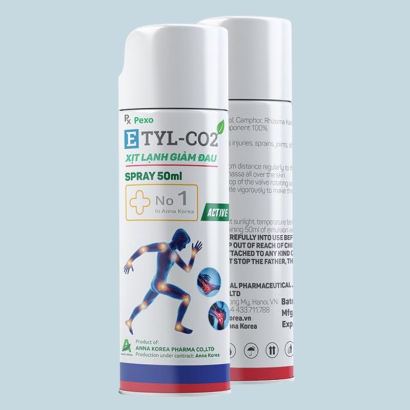 [Chính Hãng] - ETYL-CO2 – CHAI XỊT LẠNH, GIẢM ĐAU NHANH ️❄❄❄50gr