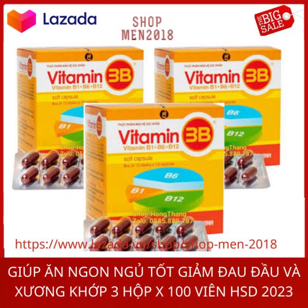 Combo 3 hộp vitamin tổng hợp Vitamin 3b bồi bổ sức khỏe 3 hộp x 100 viên