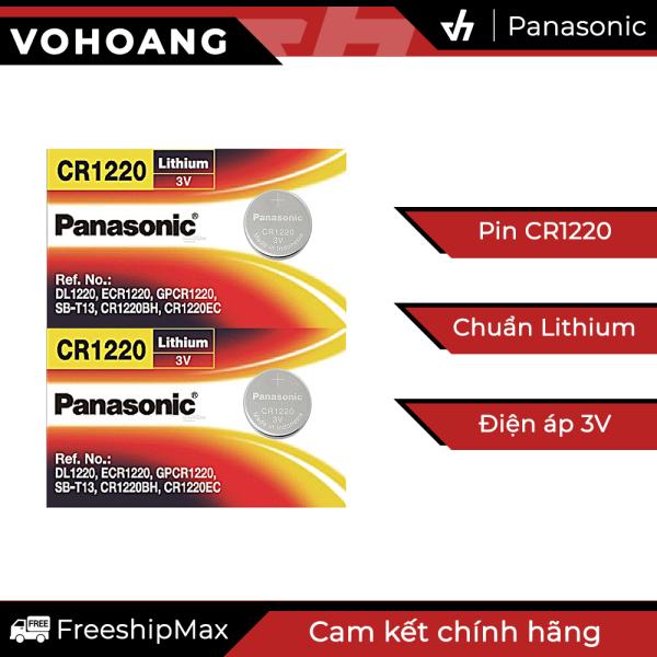 Bảng giá 2 Pin Panasonic CR1220 dùng cho điện thoại, remote, đồng hồ, nhiệt kế, v.v…