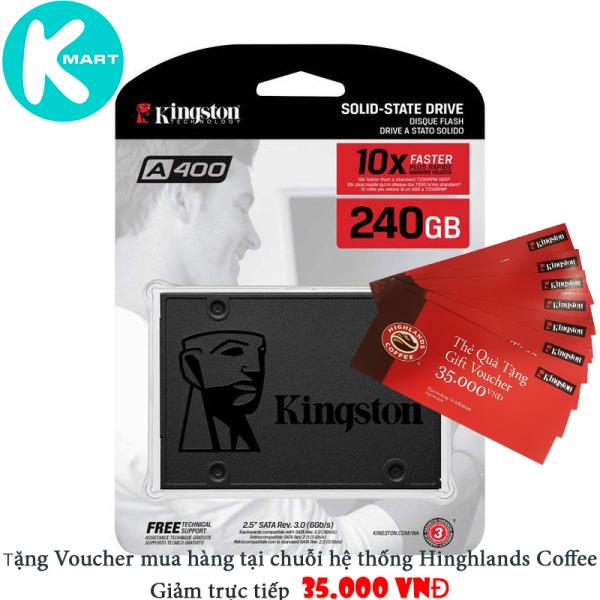 Giá Ổ Cứng SSD Kingston A400 240GB 2.5 SATAIII (SA400S37/240G) - Tem Viết Sơn / SPC - Hàng Chính Hãng