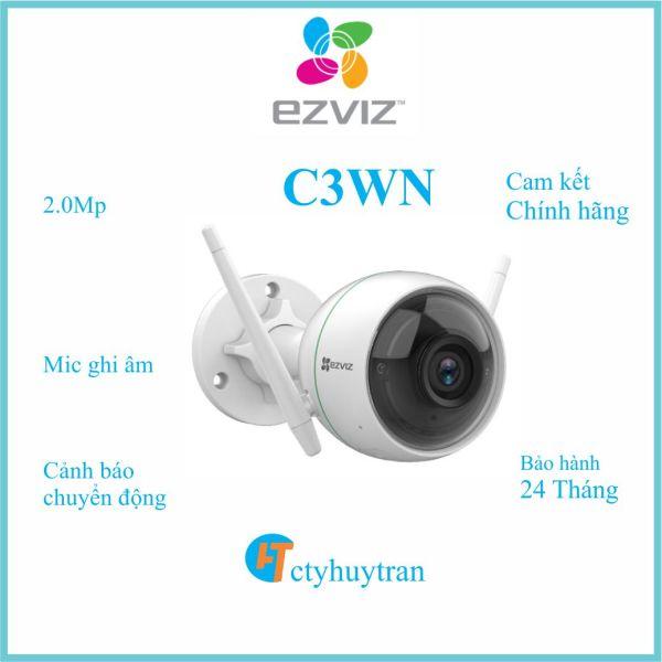 [quà tặng 100k]Camera Wifi EZVIZ C3WN 1080P ngoài trời, có mic tặng kèm nguồn chính hãng trị giá 100k, giá tốt {ctyhuytran}