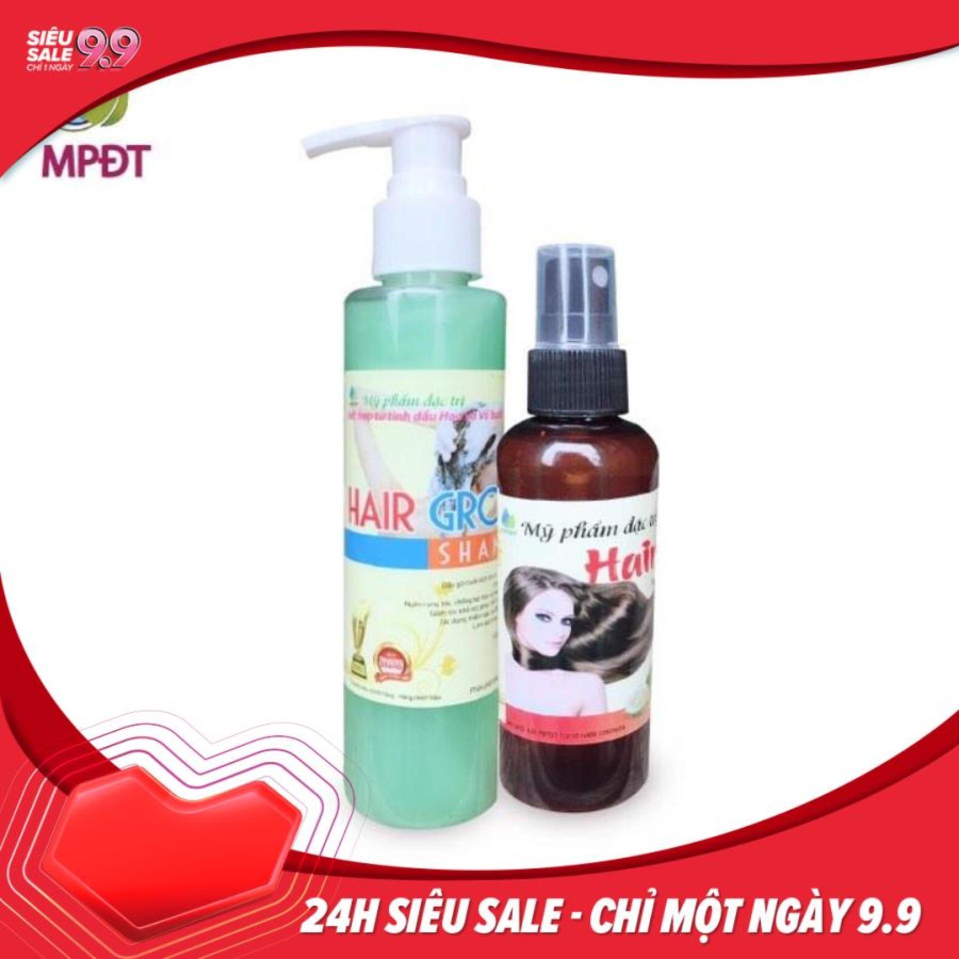 Combo tinh dầu bưởi 100ml và dầu gội bưởi 180ml trị rụng tóc