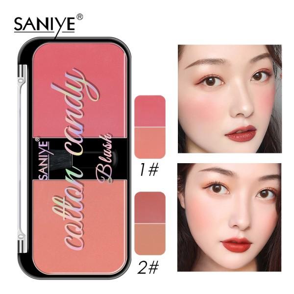 Bảng phấn má hồng SANIYE hai màu lâu trôi trang điểm tự nhiên E0226