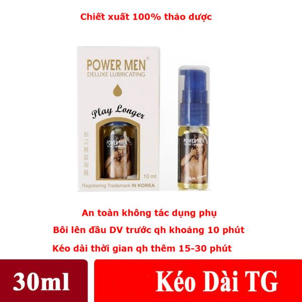 Gel bôi trơn Powermen Kéo dài thời gian (30ml)- TẶNG KÈM HỘP BCS 3CHIEC