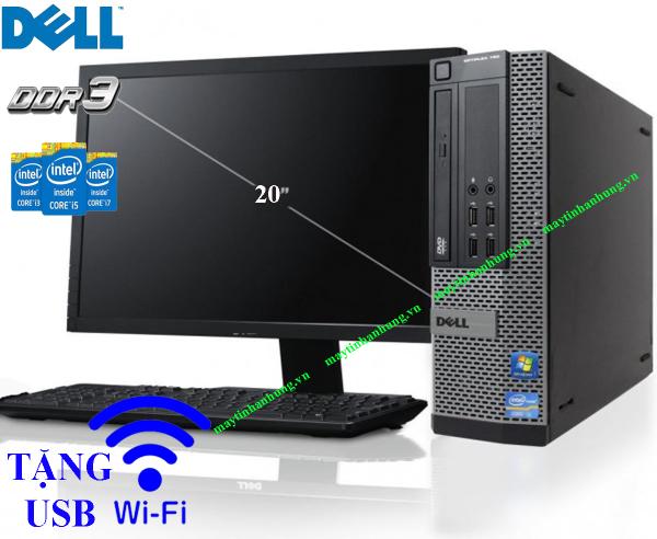 Bộ máy tính để bàn pc case Dell chip Intel i7/ i5/ i3 sản phẩm trọn bộ đã bao gồm màn hình, dùng cho văn phòng làm việc, học tập trường học tặng kèm usb wifi(cắm điện là dùng)