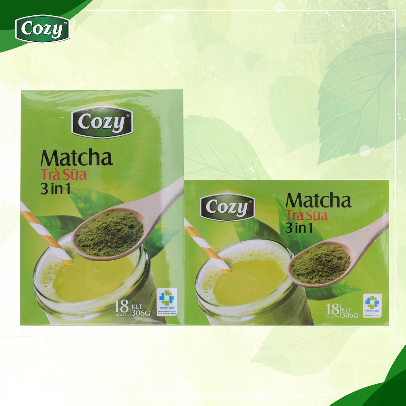 Trà Sữa Matcha Cozy 3in1 Hộp 306G