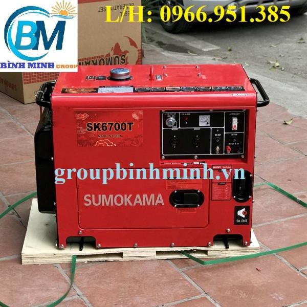 Máy Phát Điện Chạy Dầu 5Kw Sumokama SK6700T