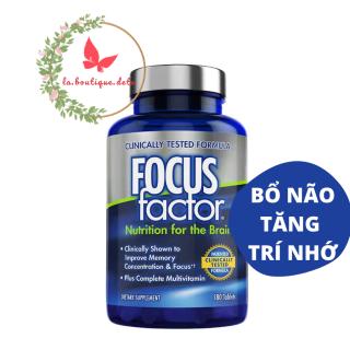 Viên uống giúp tăng tường hỗ trợ chức năng não bộ Focus Factor Nutrition For The Brain 180 viên - Hàng Mỹ thumbnail
