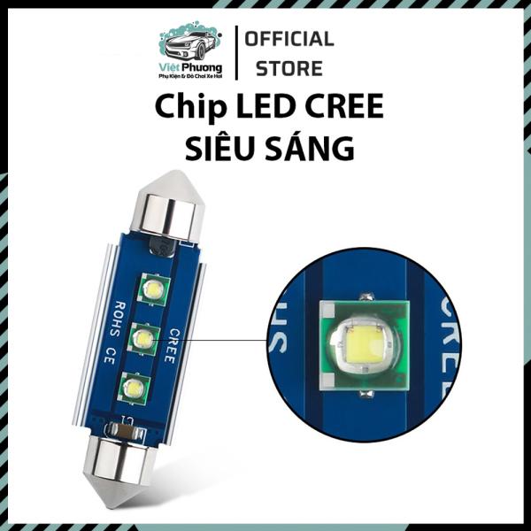 Đèn LED Trần Festoon Ô Tô Xe Hơi Cao Cấp Chip Cree Giải Mã Canbus Dài 31mm, 36mm, 39mm, 41mm cho nội thất và biển số