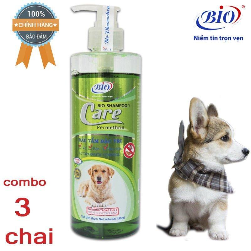 [HCM]Combo 3 chai Sữa Tắm Tiêu Diệt Ve Rận bọ chét Bio Care 450ml-79302
