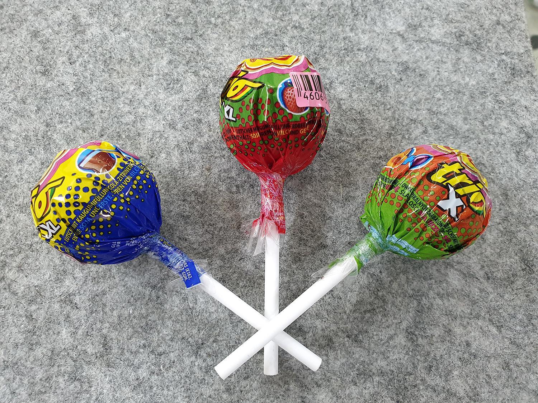 [Siêu hot] Combo 3 cái kẹo Chupa Chups size XXL Trio 3 in1 vị Cola, Vị Dâu Tây, Vị Hoa quả tổng hợp : Lớp 1 : Kẹo mút, lớp 2 : siro, lớp 3 : singum ( Mẫu mới  - Nội địa Holland - Xách tay Hà Lan - HSD : 8/2020)