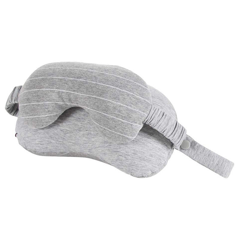 Portable Multifunctional Neck Pillow with Eye Mask Cushion Travel Sleeping Eyepatch for Office Travel Car Airplane