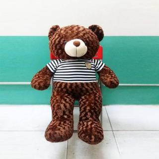 Gấu bông Teddy Cao Cấp khổ vải 1m2 Cao 1m màu nâu hàng VNXK - Tặng Thiệp Mừng 3D - Quà Tăng Yêu Thương - TD1M thumbnail