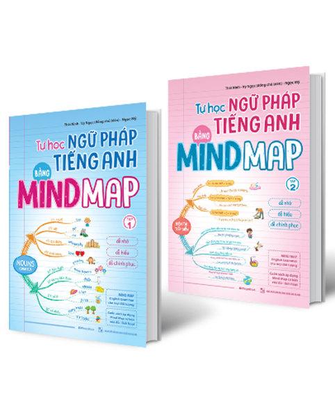 Sách Combo Tự Học Ngữ Pháp Tiếng Anh Bằng MINDMAP (Bộ 2 Cuốn) - Newshop