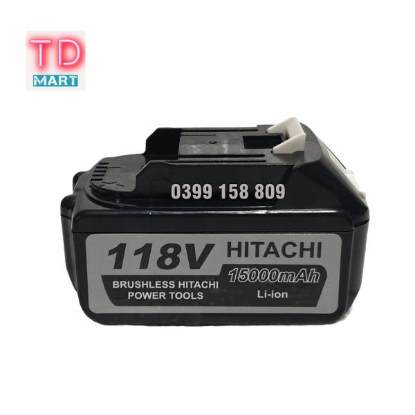 Bảng giá Pin máy siết bulong, máy khoan HITACHI 118V, Tăng thời lượng sử dụng lên đến 3-4 h-Điện thế : 118v-  Chuẩn 21V- Pin thật: 10 cell- Loại Pin Lithium-ion-Dễ dàng tháo lắp- An toàn khi sử dụng
