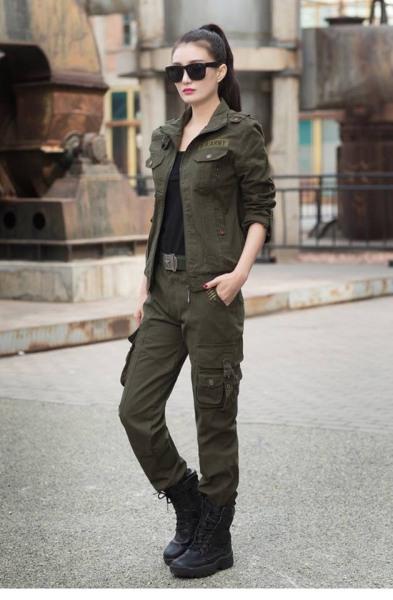Bộ quần áo nữ phong cách lính mỹ sịn Mã 116
