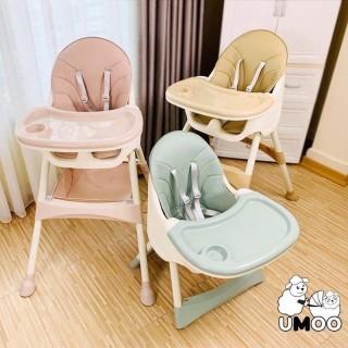 Ghế ăn dặm Umoo thiết kế Hàn Quốc 3 nấc điều chỉnh độ cao, chịu lực 50 kg, đai đa điểm an toàn cho bé thumbnail