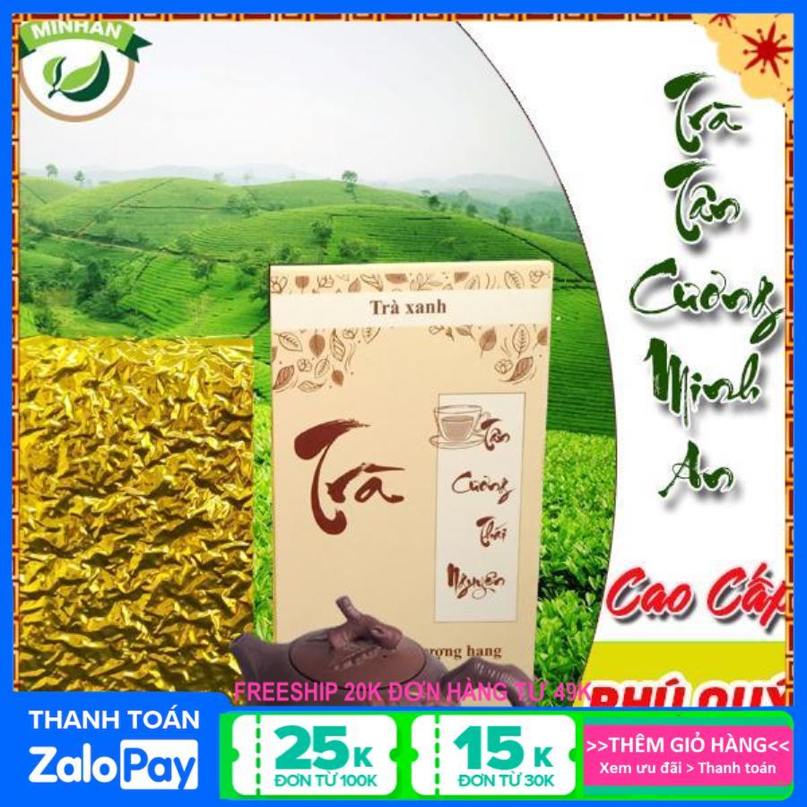 trà bắc Tân Cương Minh An - chè thái nguyên xanh sạch hộp giấy 200g biếu tặng loại 1 - Hộp phú quý