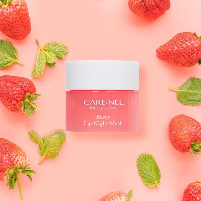 Mặt Nạ Ngủ Môi Dưỡng Ẩm Và Tẩy Tế Bào Chết Hương Dâu – Care:nel Lip Sleeping Mask tốt nhất
