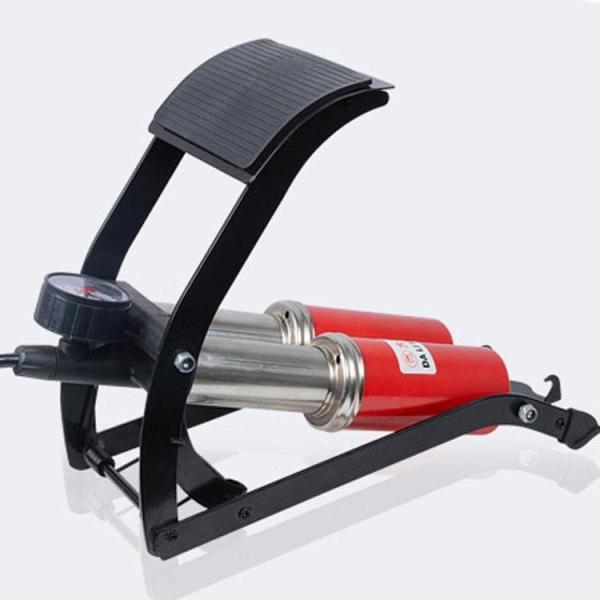 Bơm đạp chân 1- 2 ống CC-100A - Bơm hơi đạp chân xe máy ô tô - ống bơm đạp chân trợ lực - Bơm hơi đạp chân mini - Bơm xe đạp - Bơm xe máy, Bơm hơi Ô Tô -Xe Máy Gọn nhẹ