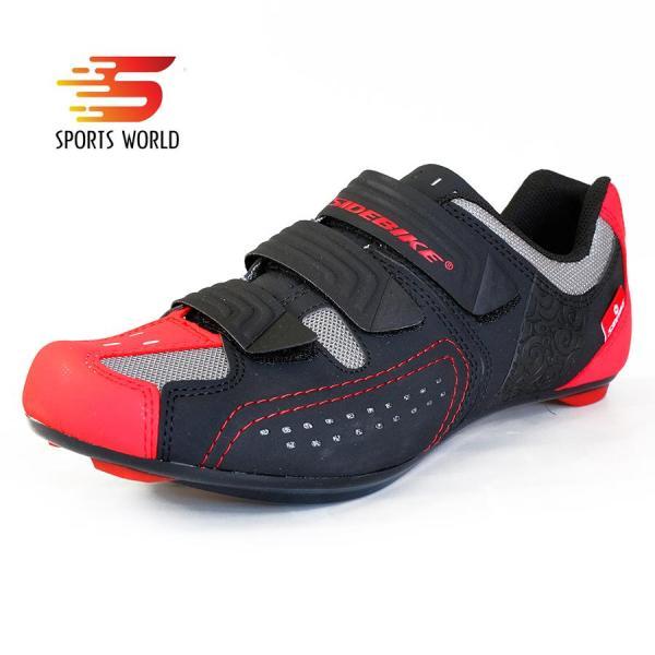 Giày cá xe đạp thể thao dòng Road  SD-013 SIDEBIKE (đen đỏ) -- SPORTS WORLD SHOP
